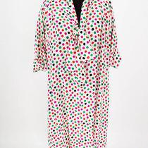 Givenchy Vintage White and Multi-Color Polka Dot Silk Dress Photo