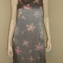 Givenchy Vision Silk Long Sleeveless Sexy Striped/ Floral Dress Size Small Photo
