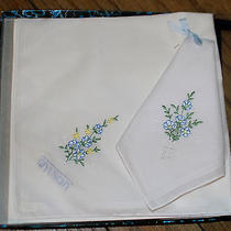 Givenchy Womens Handkerchief Floral Hankie Set in Box Photo