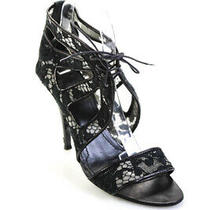 Givenchy Womens Lace Up Strappy Slim High Heels Black Size 38 Eu 8 Us Photo