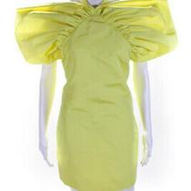 Givenchy Womens Sleeveless Mini Sheath Dress Yellow Size 0 Photo