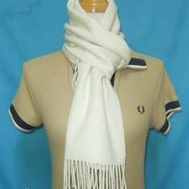 Givenchy Wool Designer Muffler Solid Pattern Ivory Foulard Shawl Wrap Scarf Photo