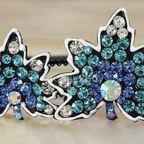 Glister Blue Leafage Leaves Hair Accessory Hairband Headband Swarovski Crystal Photo