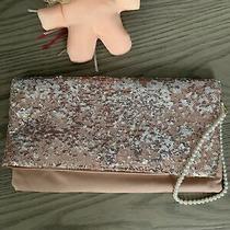 Glitzy Bcbg Maxazria Clutch Bag Blush Purse. Evening Bag Photo