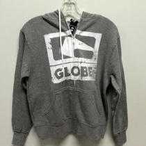 Globe Zip Up Skateboard Hoodie G3 Gunmetal Heather Size Small Photo