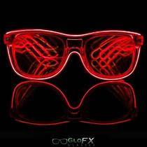 Glofx Red El Wire Diffraction Glasses Refraction Prism Laser 3d Edm Glasses  Photo