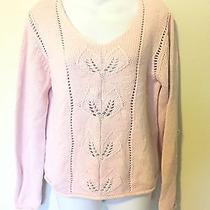 Gloria Vanderbilt Baby Pink Chunky Crop Thick Pullover Jumper Sweater L Photo