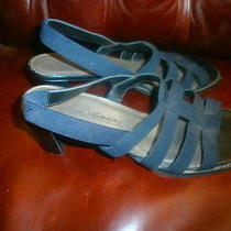 Gloria Vanderbilt Black Shoes // Women's 8.5m Sandals With Heels // Nice Photo