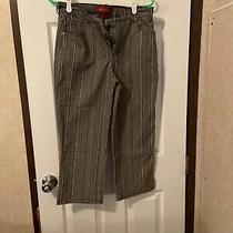 Gloria Vanderbilt Black & White Striped Cropped Jeans Womens Size 8 Euc Photo