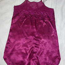 Gloria Vanderbilt Chemise Slip Nightie Negligee Sleepwear  Raspberry Purple L Photo