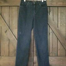 Gloria Vanderbilt Dark Blue Denim 5-Pocket Amanda Zip Jeans Size 10 Photo