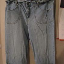 Gloria Vanderbilt Denim Capris Size 14p Very Gently Worn  Photo