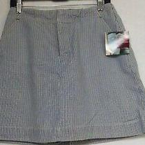 Gloria Vanderbilt Golf Shorts Skorts Shorts Sz 8 100% Cotton Nwt Photo