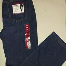 Gloria Vanderbilt Ladies' Amanda Stretch Denim Jeans Dark Blue Size 14 Photo