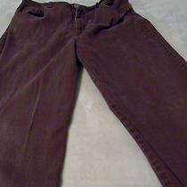 Gloria Vanderbilt Womens 18 Long Jeans Plum a Little Washwear Seat Stitch Loose Photo