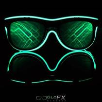 Glow Rave Black & Green Diffraction Glasses Firework Prism Trippy Edm 3d Led El Photo