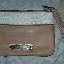Gold and Tan Express Clutch New Without Tags Photo