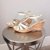 Gold Bandolino Wedge Sandals Photo
