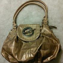 Gold Beautiful Hobo Bag Elegant Purse 14x20 Strap 11
