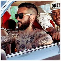 Gold & Black Flat Top Francis Sunglasses Hip Hop Rockstar Rap Super Retro Future Photo