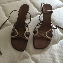 Gold Brown Sandals Photo
