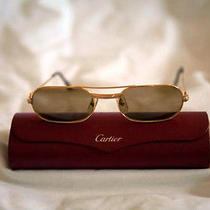 Gold Cartier Sunglasses - Oval Photo