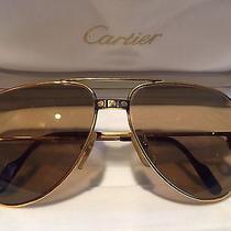 Gold Cartier Sunglasses Vintage Photo