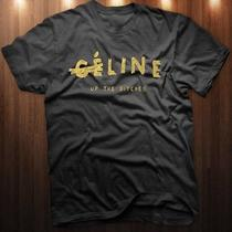 Gold Celine Logo Tee Photo