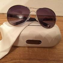Gold Chloe Aviator Sunglasses Photo
