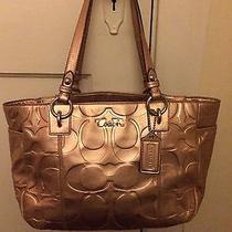 Gold Coach Metallic Handbag Photo
