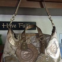 Gold Coach Satchel Purse Like New Photo