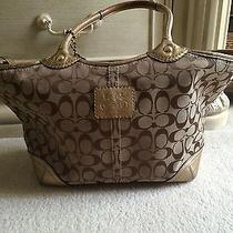 Gold Coach Tote Photo