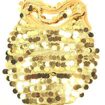 Gold Color Beads Beaded Crochet Sequins Evening Purse Bag Free Shipping 672 Photo