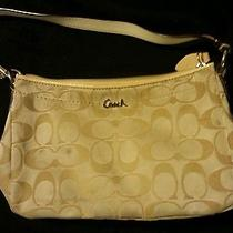 Gold/cream Coach Handbag  Photo