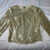 Gold Express Trendy Sequined Sparkly Zipper Moto Jacket - Small  Photo