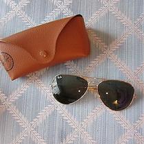 Gold Framed Rayban Sunglasses Photo