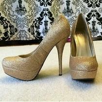 Gold Glitter Heels Photo