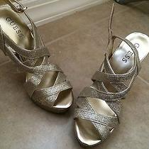 Gold Guess Heels (New) Photo