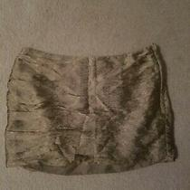 Gold h&m Mini Skirt Size 8 Nwt  Photo