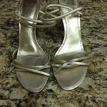 Gold Heels Size 8 Photo