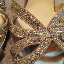 Gold Jimmy Choo Wedding Shoes Slingbacks Size 10 Photo