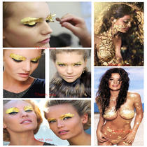 Gold Leaf Make Up Face Paint Body Painting Stage Fancy Dress Party X 100 Pieces Photo