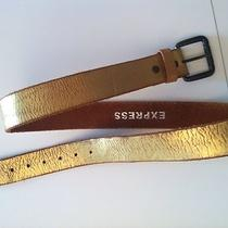 Gold Leather Belt by Express (Hips) Photo