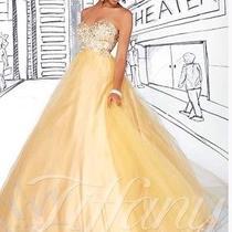 Gold Prom Dress Tiffany Designs Size 2 Photo