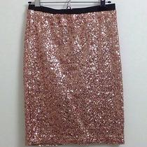 Gold Sequin Pencil Skirt Photo