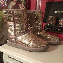Gold Sequin Uggs Size 8 Photo