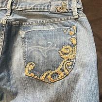 Gold Sign Goldsign Envy Denim Jeans Embroidered Pocket Light Wash Size 29 Nwot Photo