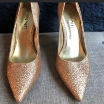 Gold Sparkle Nine West Martina Pump Photo
