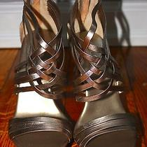 Gold Strappy Aldo Shoes  Photo