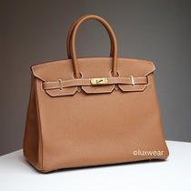 Gold Togo & Gold 35cm Hermes Birkin Bag  Photo